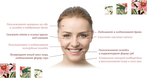Инфографика по массажу лица