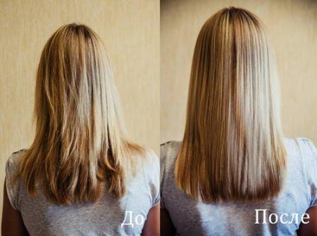 до и после горчичной маски для волос